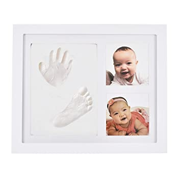 Baby Handprint Kit /& Footprint Photo Frame for Newborn Girls and Boys,Perfect Baby Shower Gifts,Great Baby Registry Gifts,Keepsake Box Decorations for Room Wall Nursery Decor Angel