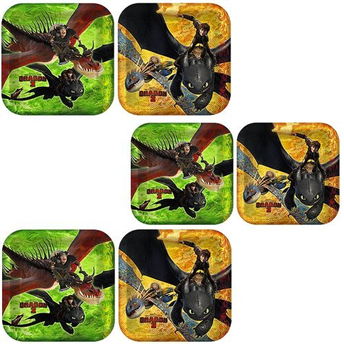 How to Train Your Dragon 2 Dessert Plates - 24 Pieces by Hallmark