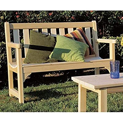 Rustic Natural Cedar Furniture Straight Back 4 ft. English Garden Bench