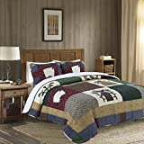 3-Piece Quilt Set 100%Cotton, Bedspread Set, Finely Stitched, Coverlet Bed-cover, Washable Durable