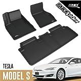 3D MAXpider All-Weather Floor Mats for Tesla Model S 2012 2013 2014 2015 2016 2017 Custom Fit Car Floor Liners, Kagu…