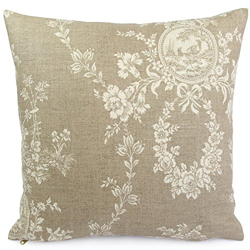 Waverly Square Print (Chloe & Olive French Country Toile Throw Toss Pillow Cover - 18