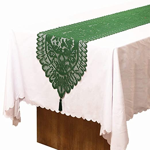 ESORST Bandera de Mesa de Moda Flor del cordón del Bordado Camino ...