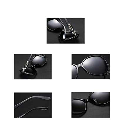 LQQAZY Gafas De Sol Polarizadas Hembra Cara Redonda Caja Grande Gafas De Sol Marea Personalidad Elegante Gafas Retro,Purple: Amazon.es: Jardín