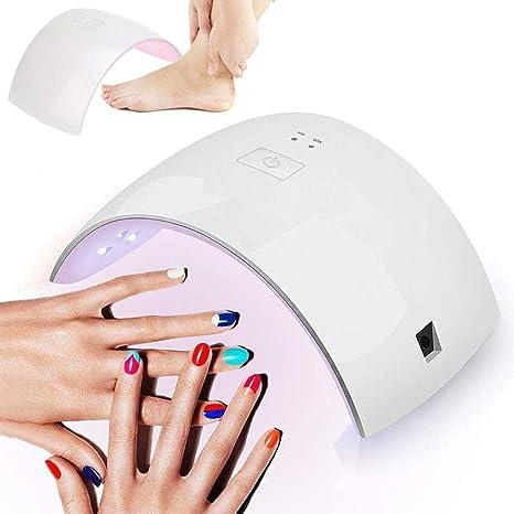 SHKY Secador de uñas - Lámpara LED de Clavos LED UV Mixta de 36W con Sensor de Infrarrojos automático, secador de Gel de lámpara LED, manicura, ...