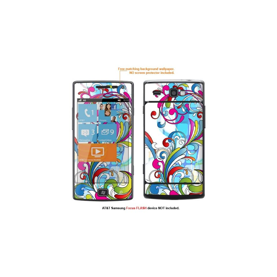 Protective Decal Skin Sticker for AT&T Samsung Focus Flash (Only fit Focus Flash Model) case cover FocusFLASH 146