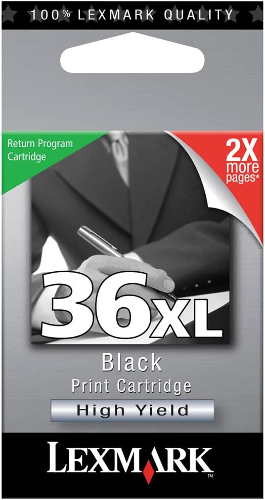 Lexmark (#36XL) X3600, X4600, X5650, X6650, X6675 High Yield Black Return Program Ink Cartridge, Part Number 18C2170