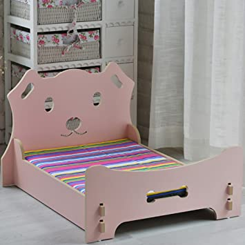 Cama para Perros Cama para Gatos Cama para Mascotas Cama de Madera Maciza Cama de sofá Lavable Princesa (Color : Pink): Amazon.es: Hogar