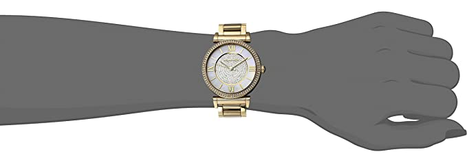 fdc6b794125f Amazon.com  Michael Kors Women s CATLIN Gold-Tone Watch MK3332  Watches