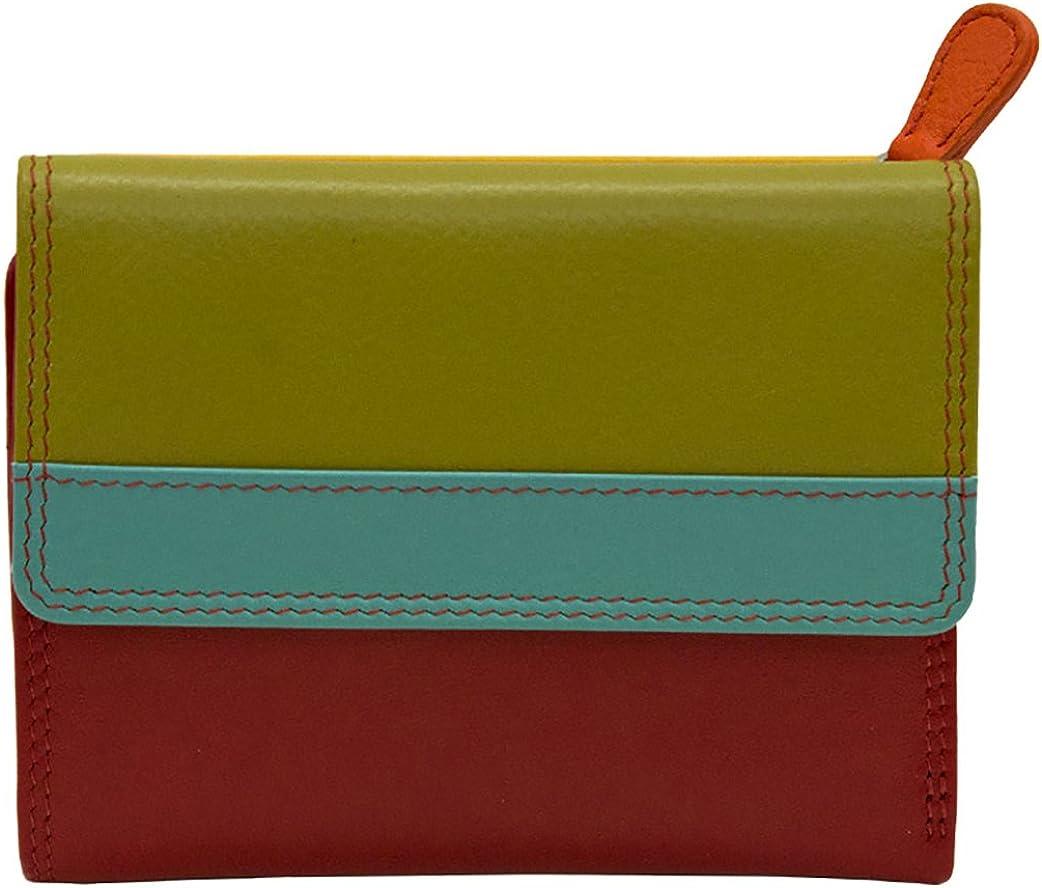 Ili Leather Colorblock Wallet