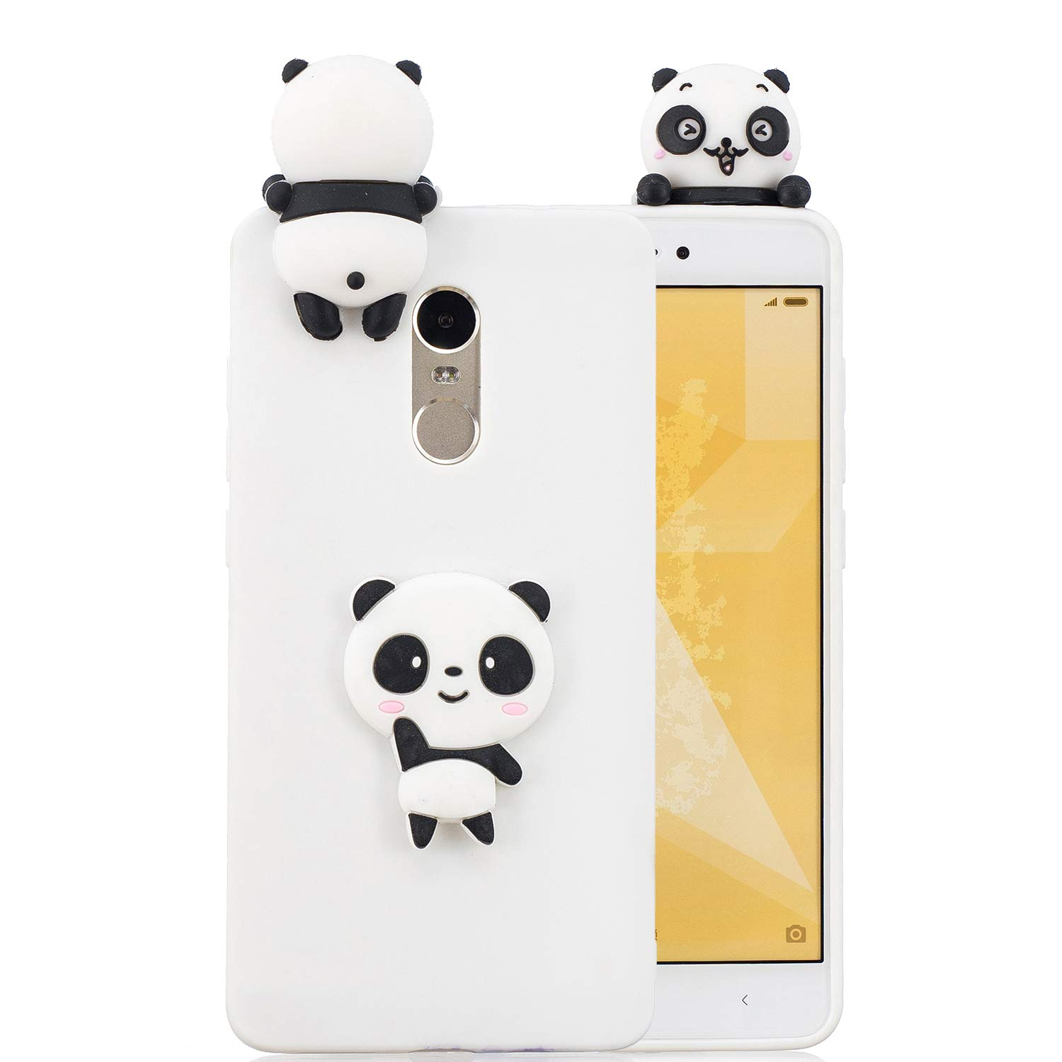 Xiaomi Redmi Note 4 Case Silicone 3D Cute Fashion Cartoon Animal Rubber Fun Unique Soft TPU Anti-Scratch Protective Back Cover Runchuan