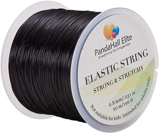 Elastic Stretch Beading Cord Bracelet String Thread Roll Jewelry Making Black