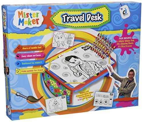 CI Mister Maker Travel Desk with 8 Wax Crayons and 20 Colouring Sheets by Mister Maker Creativity International
