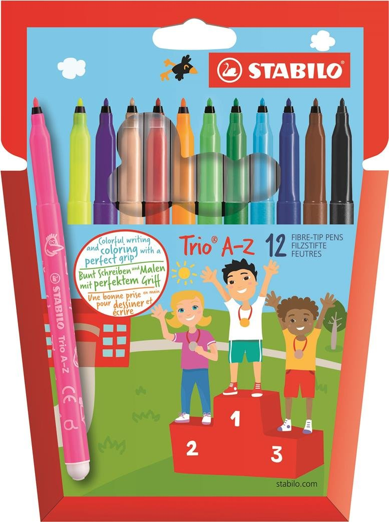 STABILO Trio A-Z Pennarelli colori assortiti - Confezione da 12 Stabilo International GmbH 378/1-12-01
