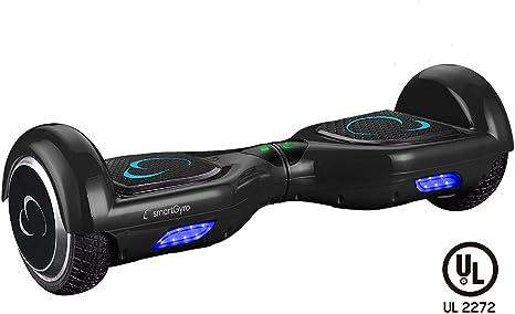SMARTGYRO X2 Patinete Eléctrico Hoverboard, Antipinchazos, Batería de Litio 4400 mAh, Velocidad Máxima 12 Km/h, Certificado UL, Unisex Niños, Negro, 6.5 Pulgadas: Amazon.es: Deportes y aire libre