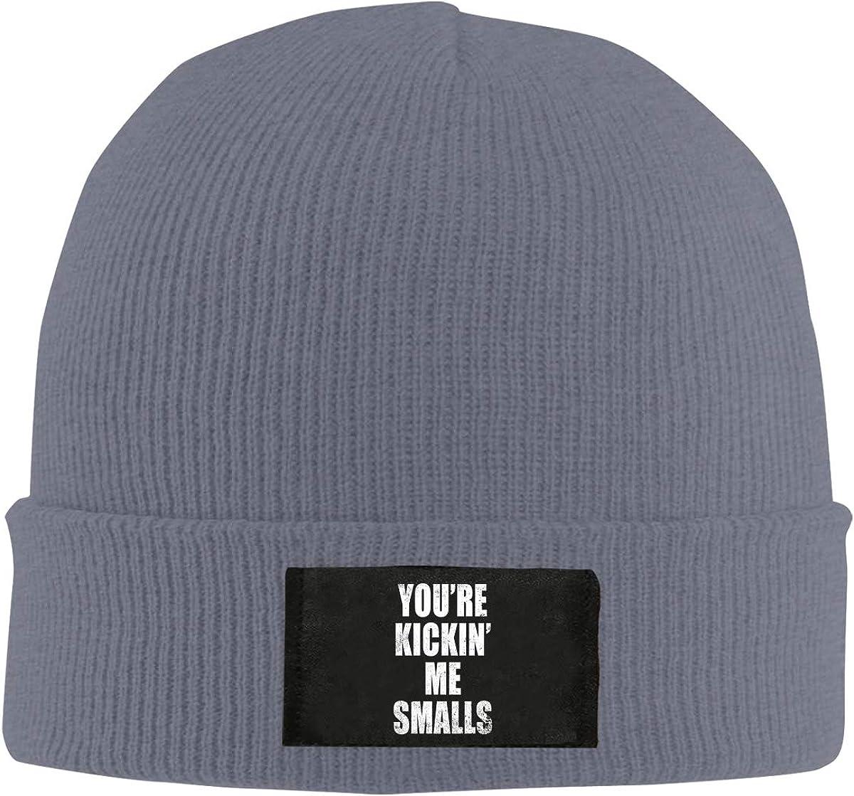 Kickin Me Smalls Top Level Beanie Men Women Unisex Stylish Slouch Beanie Hats Black