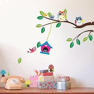 ملصقات الحائط القابلة للإزالة DIY لغرفة الأطفال ديكور المنزل - البومة