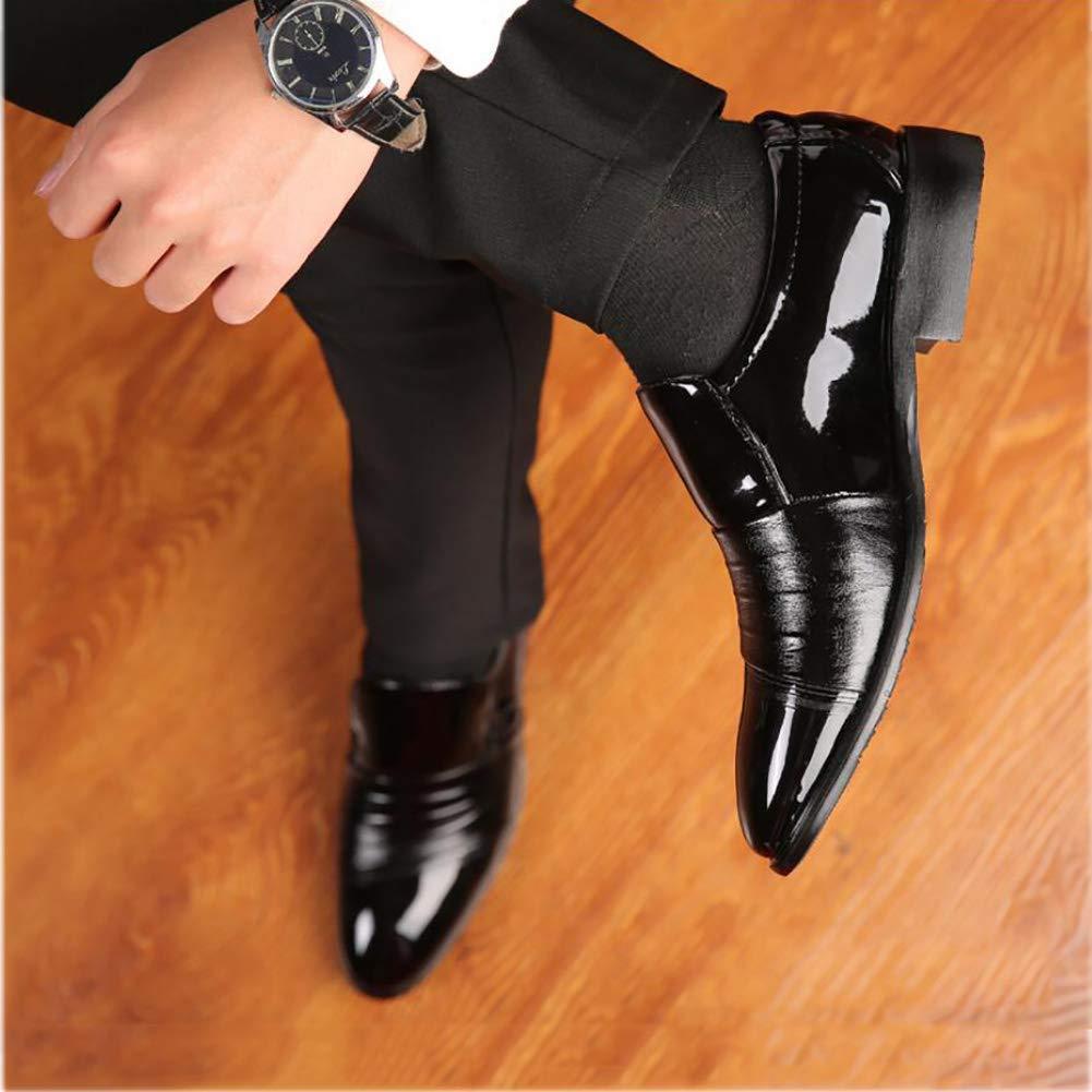 FuweiEncore Herren Formelle Schuhe, Frühling Herbst Leder Leder Leder Business Schuhe, Spitz Zehen Kleid Schuhe, Verschleißfeste Laufsohle Komfort Schuhe, Hochzeit Casual Party (Farbe   Schwarz, Größe   44) 073437