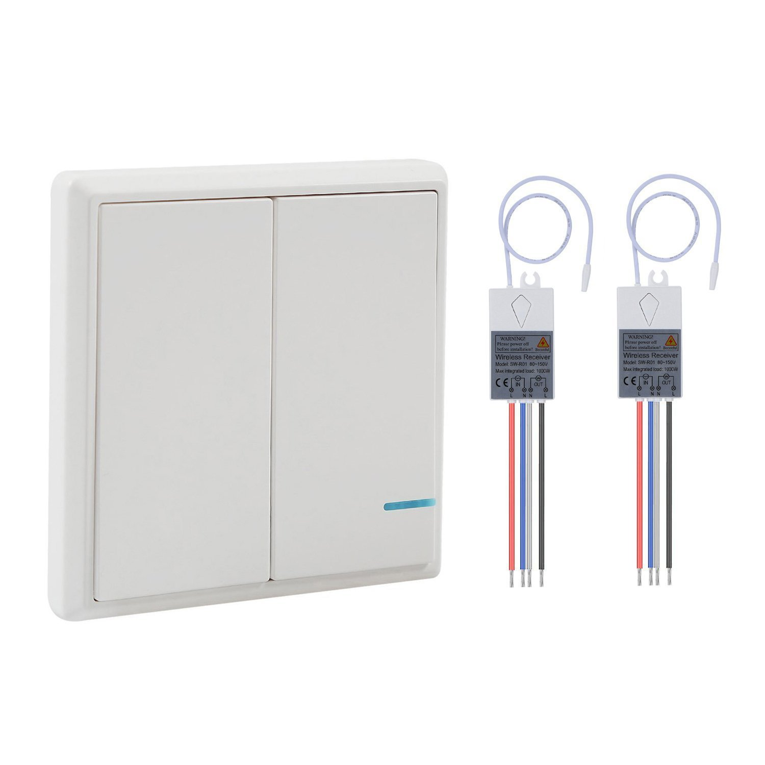Wsdcam Wireless Light Switch And Receiver Kit Outdoor 1900 Ft Electrical Wiring In The Home Installing A New Ceiling Indoors 229 Remote Control