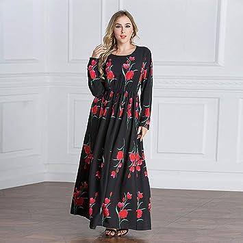 OOFAY Rose Batas De Imprimir, Vestido De Las Mujeres Musulmanas ...