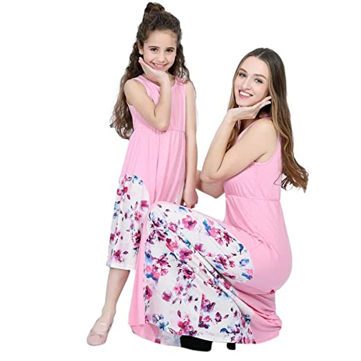 656bab67747 Remiel Store Toddler Baby Girls Long Sleeve Floral Print Casual Ankle-Length  Maxi Dresses