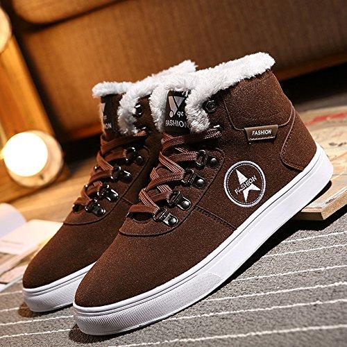 3 3 3 UK6 Piastra da calzature calzature calzature Le dimensioni Marrone Winter High Nero Colore Scarpe uomo CN40 colori sportive FEIFEI 5 Help Fashion EU39 scarpe vSCq7
