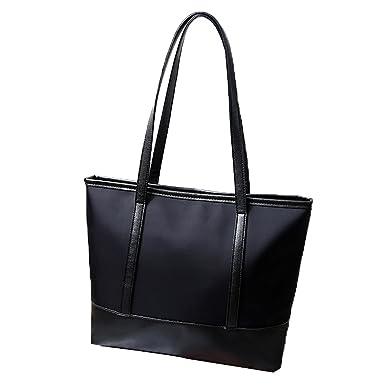Damen Neue Europäische Und Amerikanische Mode Einfache Umhängetasche Umhängetasche,Black-OneSize ASDYO