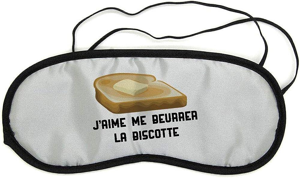 Mygoodprice Masque de nuit pour repos voyage et sommeil OSS 117 beurrer la biscotte