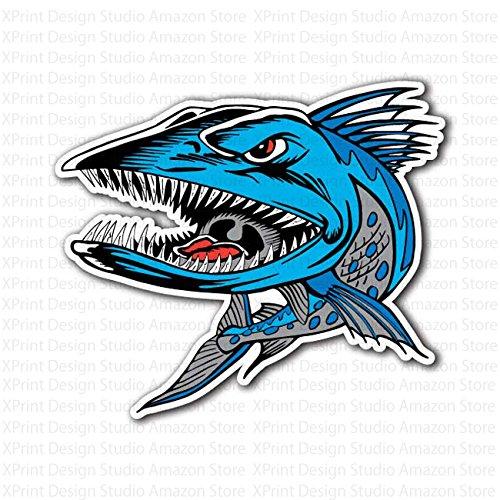 blue-crazy-fish-barracuda-sticker