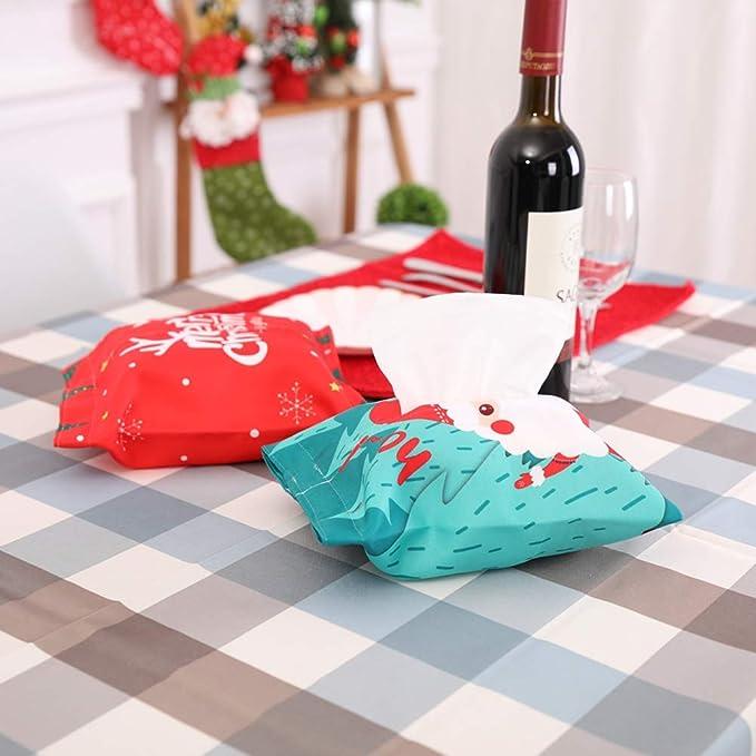 BESTOYARD Caja de pañuelos navideños Porta servilleta dispensador Regalo de decoración de Navidad Creativo (muñeco de Nieve): Amazon.es: Juguetes y juegos