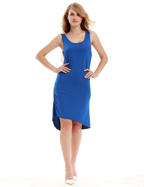 TeeDoc Womens Sleeveless Sexy Bodycon Midi Bandage Party Evening Dresses