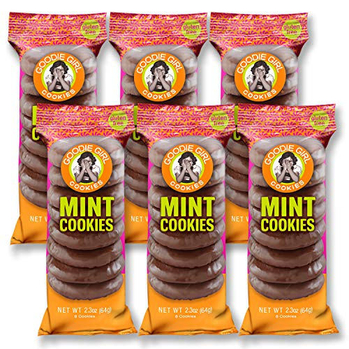 Goodie Girl Cookies Mint Cookies Slims Chocolate Mint Wafer Individually Wrapped Snack Pack Cookies, Peanut Free and Gluten Free Cookies (2oz Bags, Pack of 6)