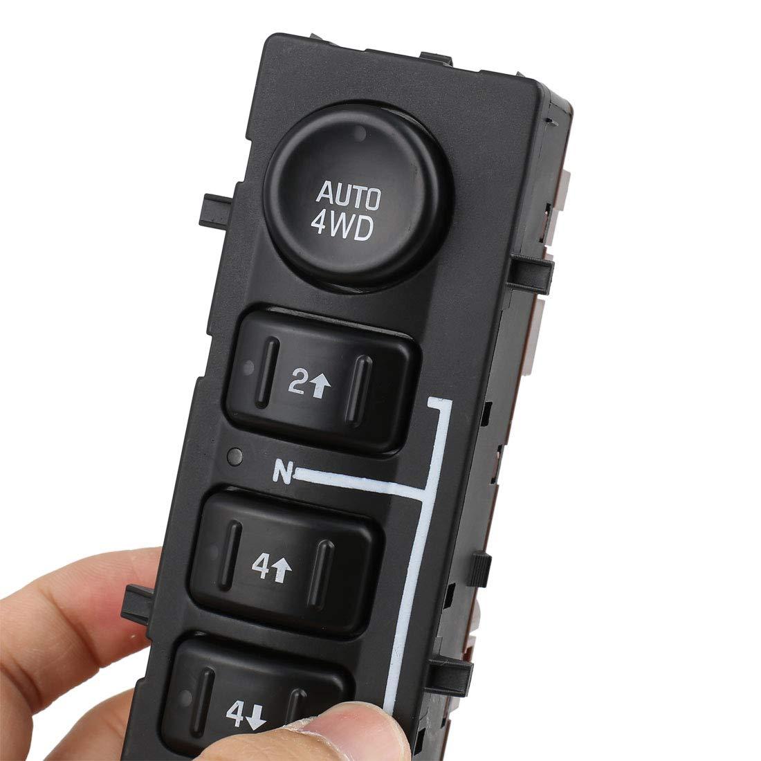 uxcell 4WD 4x4 Transfer Case Selector Dash Switch for 2003-2007 GMC Silverado 19259313