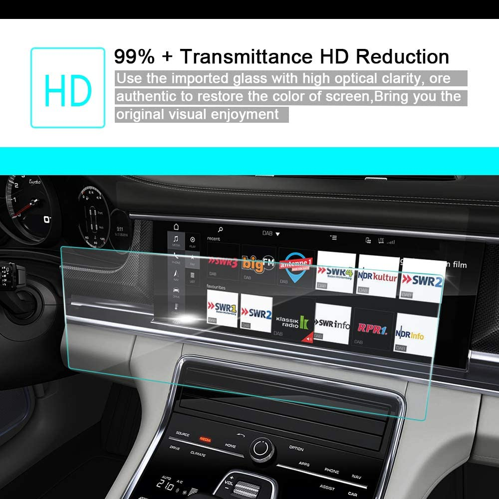 in-Dash Media Touch Screen GPS Display Protective Film 8X-SPEED for 2016 2017 2018 Cadillac XT5 Car Navigation Screen Protector HD Clarity 9H Tempered Glass Anti-Scratch