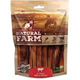 Natural Farm 6-Inch Pixie Bully Sticks (30-Pack), 100% Real Beef - Very Thin, Hollow & Light Easy Chewing Treats - Fully Digestible High Protein Chews, Great for All Breeds, Puppies and Senior Dogs