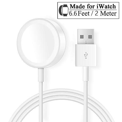 Cargador para Apple Watch Reloj 2M/6.6FT Cable de Carga magnético iWatch Cargador 38mm,42mm para Apple Watch Series 1/2/3/4, not for 5