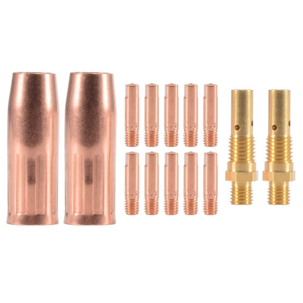 Accesorio de soldadura MIG 0,9x25mm + 2 piezas Boquilla de Gas Kit de 10 piezas Tubo de Contacto M6 2 piezas Difusor Portaboquillas