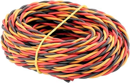 PVC 3-way Servo Wire Cable 20 22 26 28 32 AWG Flat//Twisted JR Hitec Futaba BULK