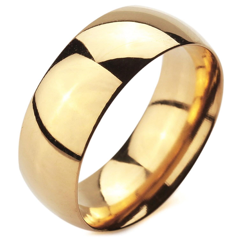 MunkiMix Ancho mm Acero Inoxidable Anillo Ring Banda Venda Oro Dorado Alianzas