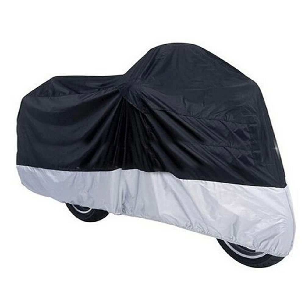 GOGO 180T Motorcycle Cover, Scooter Covers, Motorcycle Accessories, M-XXXL - Black/Silver,L
