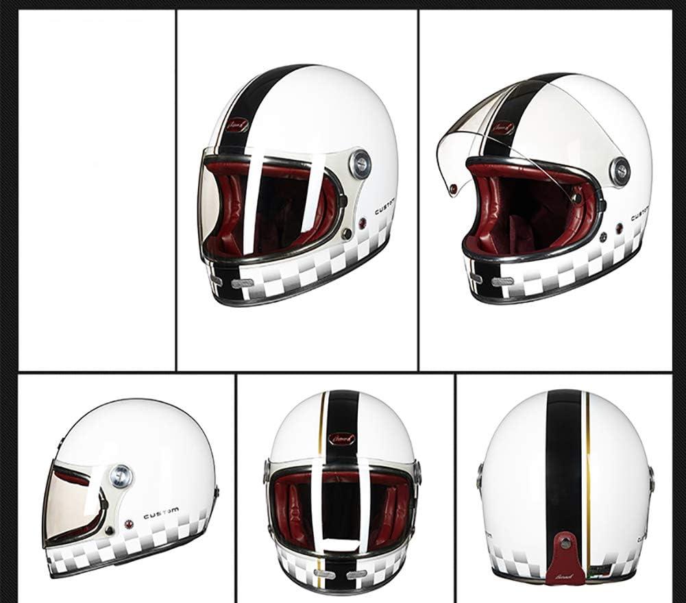 LALEO Personalidad Genial Ni/ña Vintage Harley Casco Moto Abierto ECE Certificado Transpirable C/álido Forro Extra/íble Adulto Hombres Mujeres M-XL 54-60cm