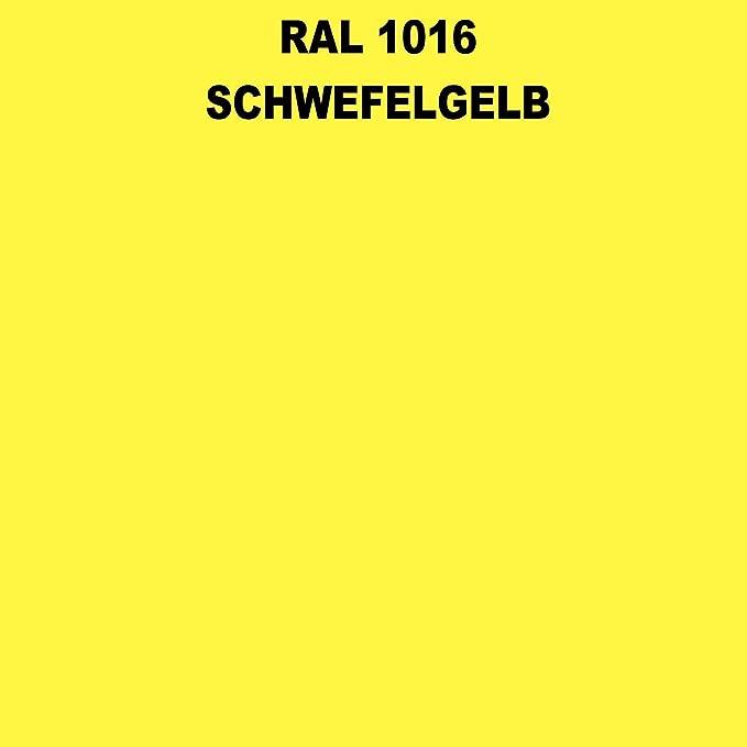 1 Spraydose 400ml Autolack Glänzend Ral 1016 Schwefelgelb Auto