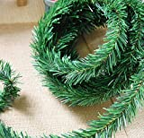 20ft Ties Green Fir Hanging Vine Garland Christmas Decorations (Small image)