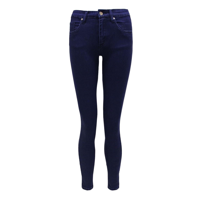 Envy Boutique Women's Cropped Capri Pants Indigo Jeggings Denim Jeans Trousers