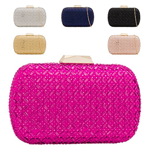 Party Clutch Diamante Evening Handbag Bag Bag Champagne Women's Cocktail Box Purse Ladies KH2217 nwdUEqYCff