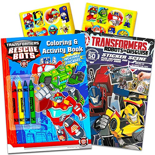 Transformers Rescue Bots Coloring and Activity Book Set With Stickers and -