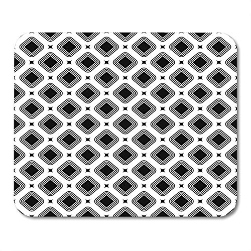 Hoop Diagonal (Boszina Mouse Pads Rhombuses Bezels and Dots Pattern Design with Diamonds Checks Ethnic Mosaic Crossed Diagonal Lines Mouse Pad for notebooks,Desktop Computers mats 9.5