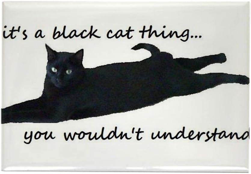CafePress diseño de gato negro cosa imanes – rectangular imán, 2