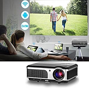 caiwei led android wireless projector good projector easy to set up