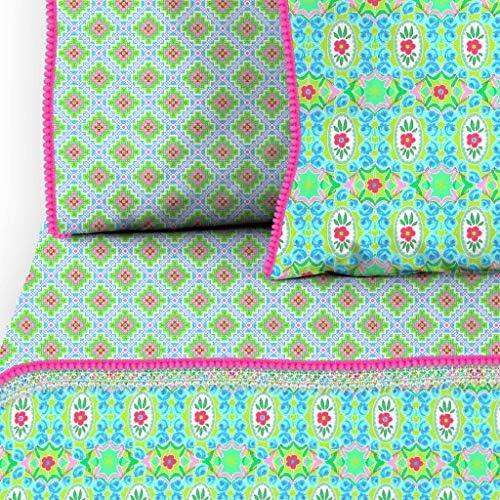 Happiness Housse de couette ZOSIA 140x200/220 cm Vert citron